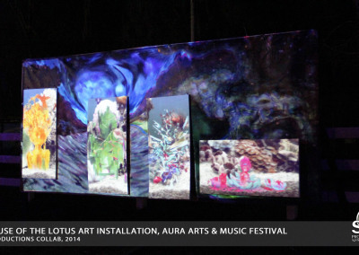Aura Music Festival 2014: Projection Art Installation
