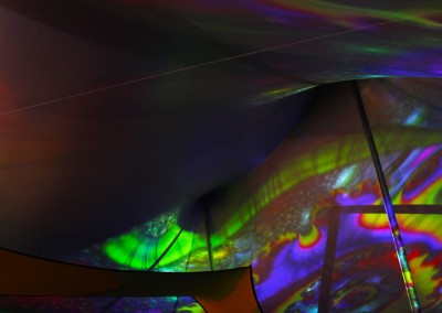 SJP: VIP tent Projection Mapping Gathering of the Vibes 2014