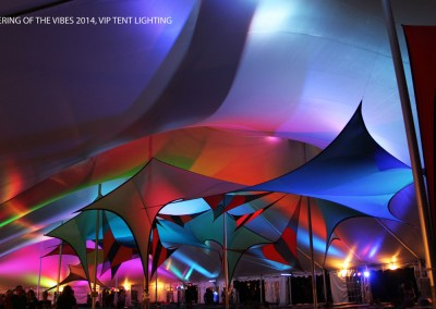 SJP: VIP tent Uplighting Gathering of the Vibes 2014
