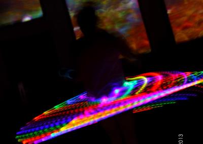 hula with visual backdrop