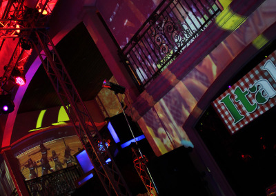 Projection Mapping Cheerleaders