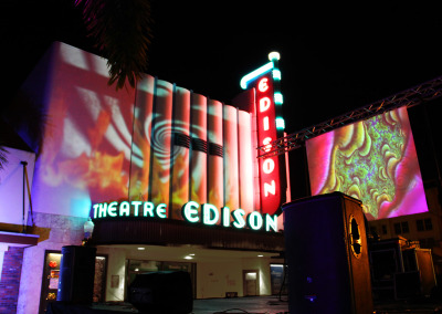 Fort Myers Edison Theatre Fire Projections